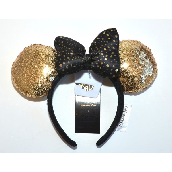 Minnie Gold Sequined Headband ears, Disneyland Paris new Collection
