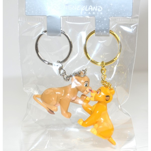 Disneyland Paris Simba and Nala key ring
