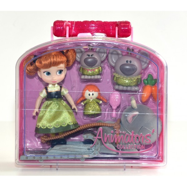 Disney Animators' Collection Anna From Frozen Mini doll Playset