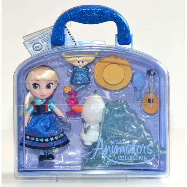 Disney Animators' Collection Elsa From Frozen Mini doll Playset