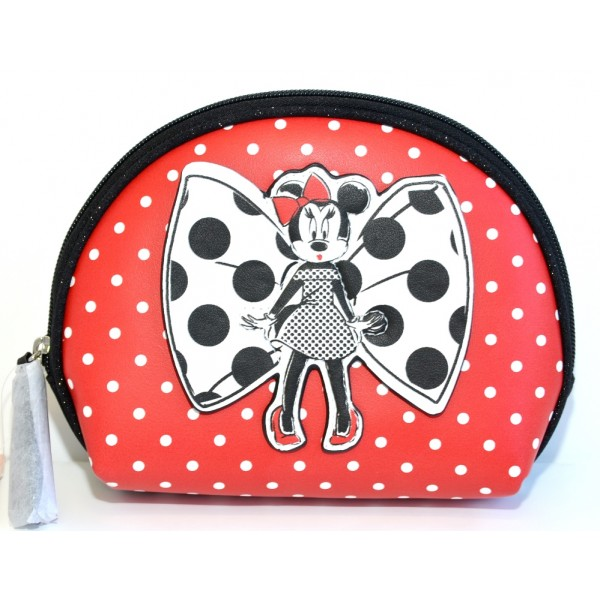 Minnie Mouse Parisienne polka dot cosmetic bag, Disneyland Paris new Collection