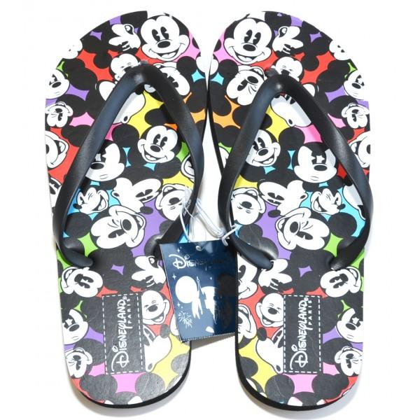 Mickey Mouse multi faces Flip flops size L 6/7 -39/40, Disneyland Paris