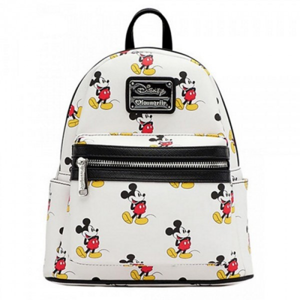 Disneyland Paris Loungefly Mini Faux Leather Backpack - Classic Mickey Mouse