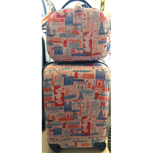 Disneyland Paris New Collection Rolling Luggage and vanity case