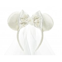 Disneyland Paris Minnie Mouse Bride Ears Headband