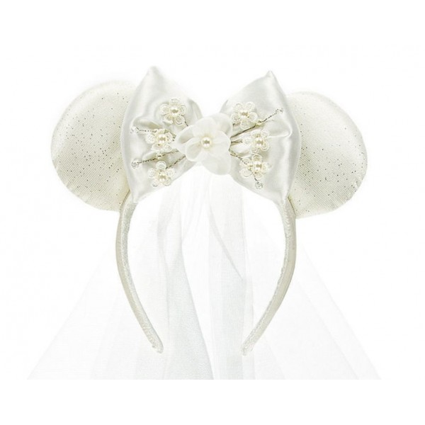 Disneyland Paris Minnie Mouse Bride Ears Headband