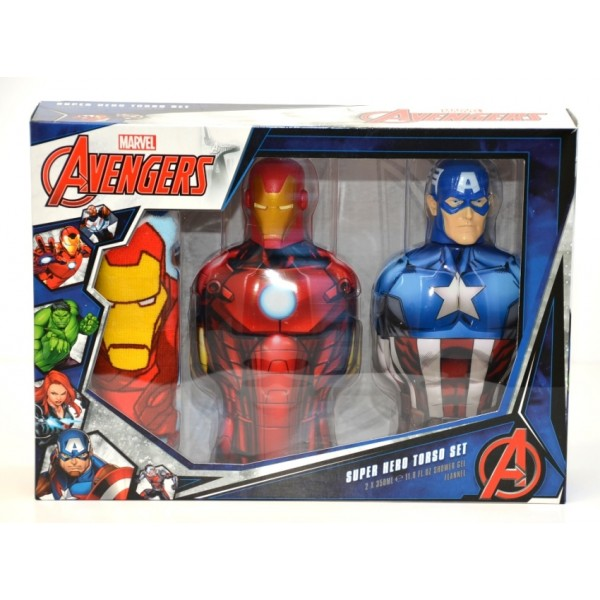Marvel Avengers Super Hero Torso Shower Gel Set