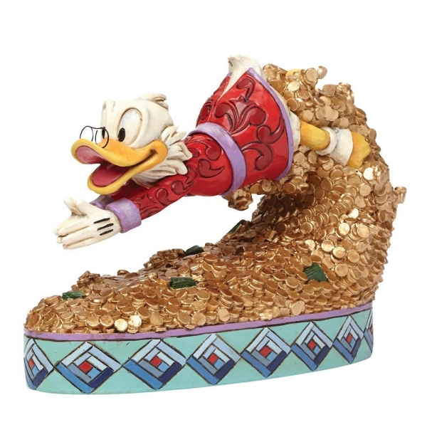 Disney Traditions Treasure Dive Scrooge McDuck Figurine