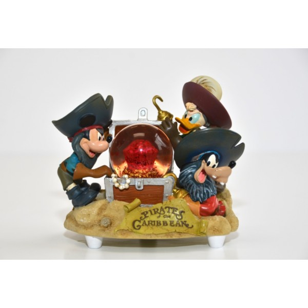 Disney Snow Globe - Pirate Captains - Mickey, Goofy, & Donald