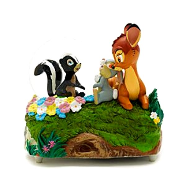 Bambi Thumper and Flower Snow Globe