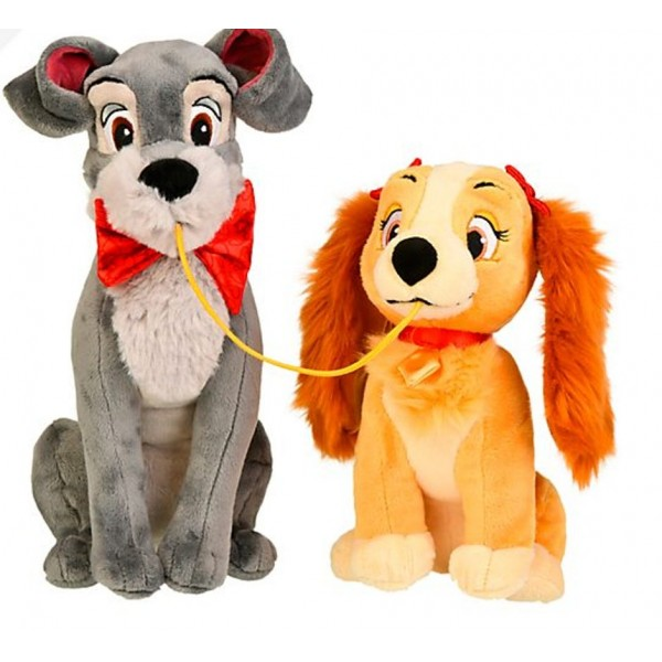 Disneyland Paris Lady and the Tramp Medium Soft Toy Set