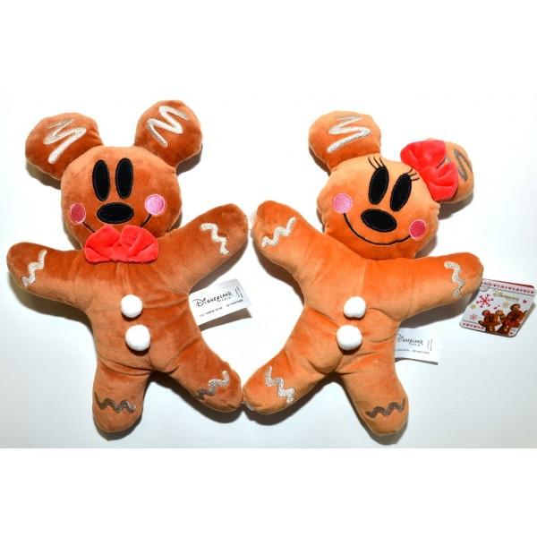 Disney Mickey and Minnie Gingerbread Plush soft toy, Disneyland Paris Exclusive