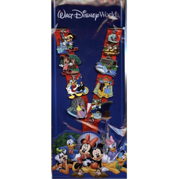 Disney Lanyard Pin Set