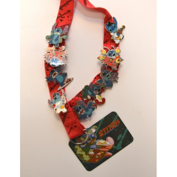 Disney Lanyard Stitch Pin Set