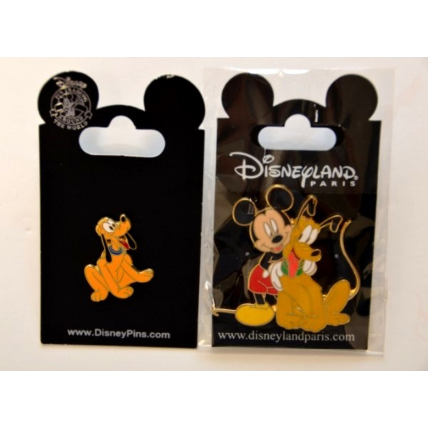 Disney Mickey & Pluto Pin Set