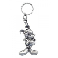 Disney Mickey Mouse Keychain Metal Plate Key Ring