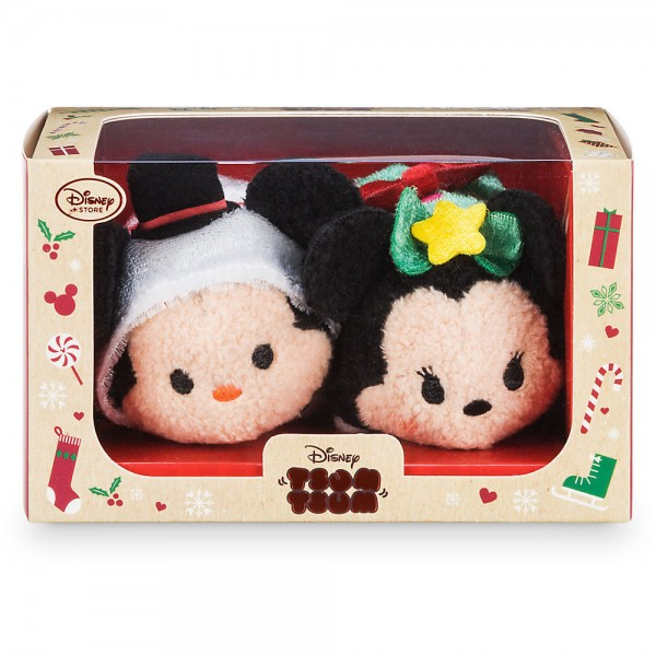 Mickey and Minnie Mouse Christmas Tsum Tsum Set