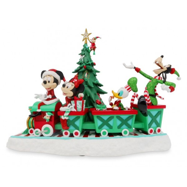 Disney Mickey Mouse and Friends Musical Holiday Train Figurine