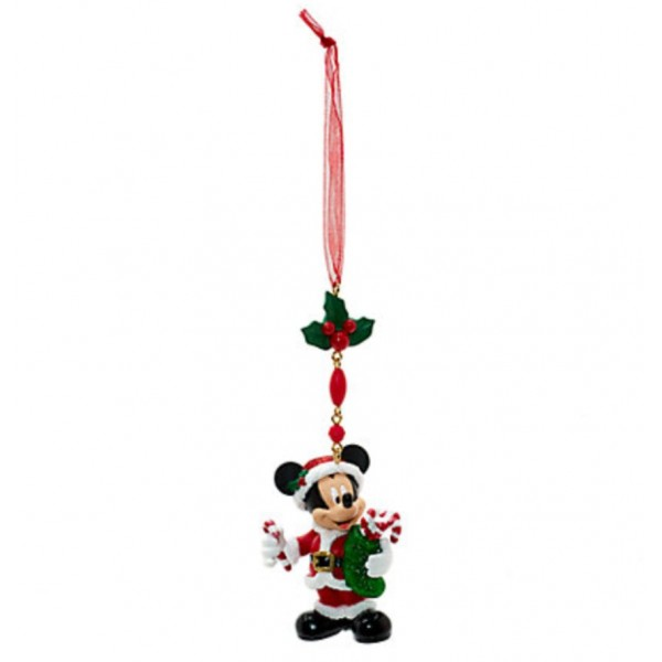Mickey Mouse Christmas Dangle Decoration, Disneyland Paris