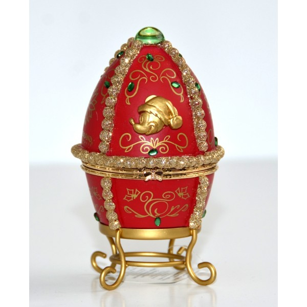 The Castle of Sleeping Beauty Christmas Sculptured Figurine Egg