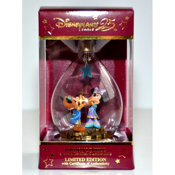 Mickey and Minnie Limited Edition Christmas Bauble, Disneyland Paris 25th Anniversary