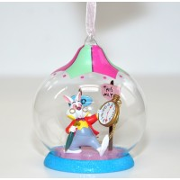 Alice in Wonderland White Rabbit Christmas Bauble