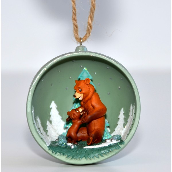 Brother Bear Christmas Open bauble, Disneyland Paris