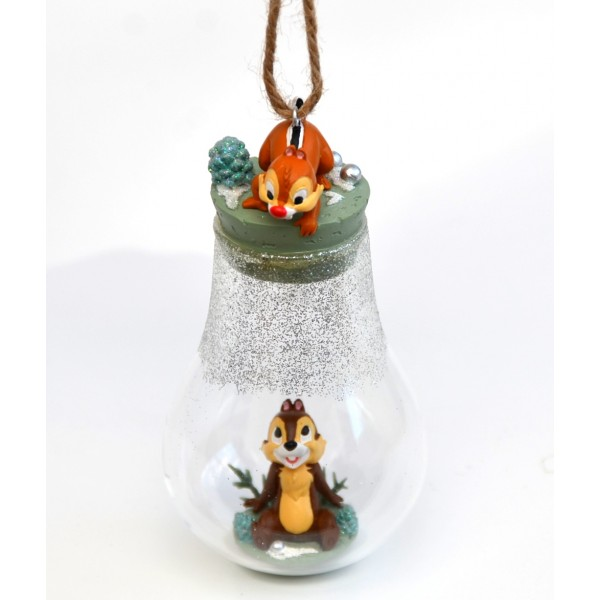 Disney Chip and Dale Bauble Christmas Ornament, Disneyland Paris