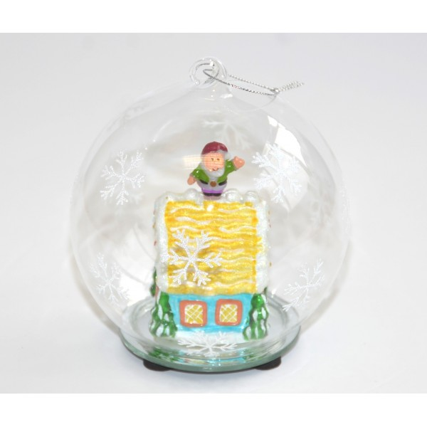 Christmas House glass light-up Bauble
