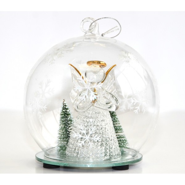 Angel glass light-up Bauble
