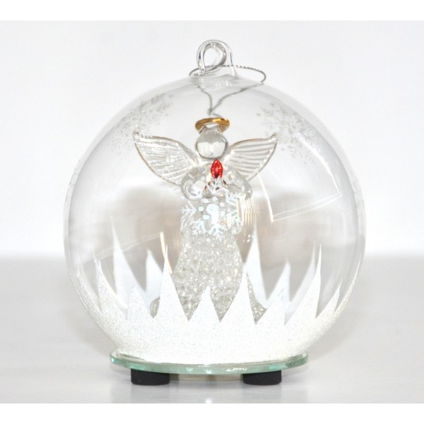 Angel glass light-up Christmas Bauble Ornament