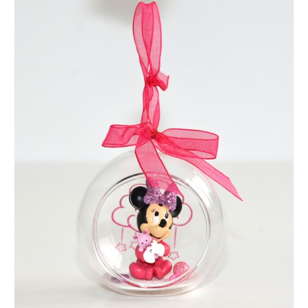 Baby Minnie Mouse in a Christmas bauble, Disneyland Paris