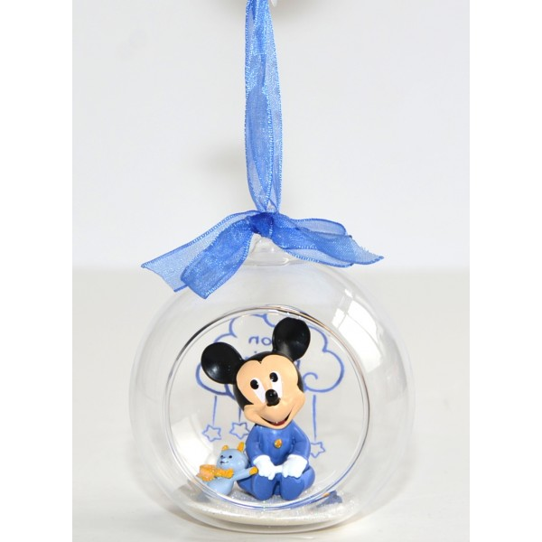 Baby Mickey in a Christmas bauble, Disneyland Paris