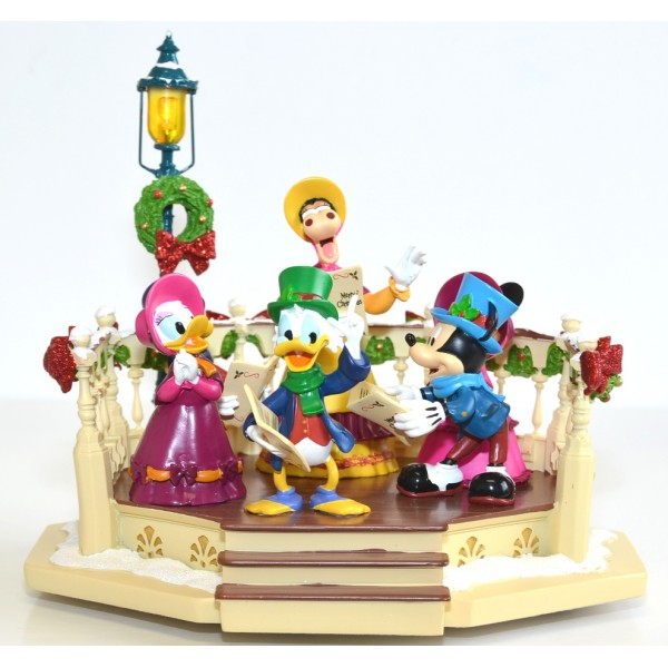 Disney Christmas Characters Carollers Light Up and Musical Figurine, Disneyland Paris