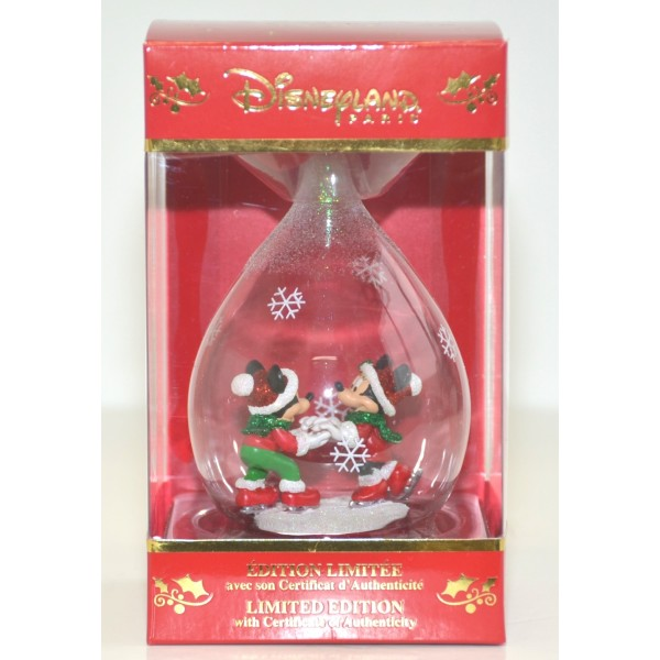Mickey and Minnie Limited Edition Christmas Bauble, Disneyland Paris