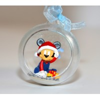 Baby Mickey in a small Christmas bauble, Disneyland Paris