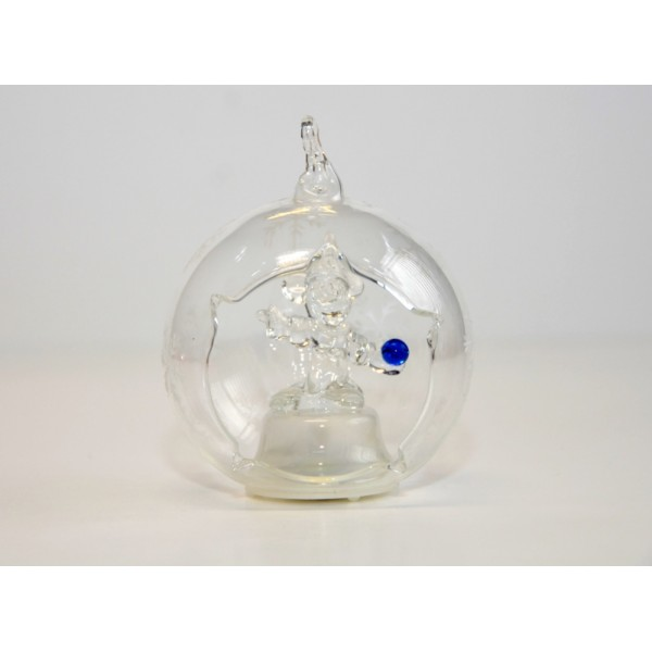 Mickey Sorcerer Light-up Glass Ornament