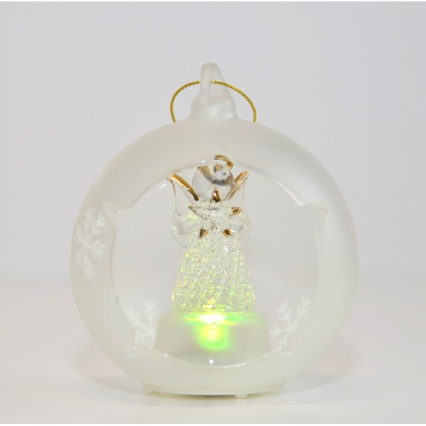 Angel Light-up Glass bauble Ornament