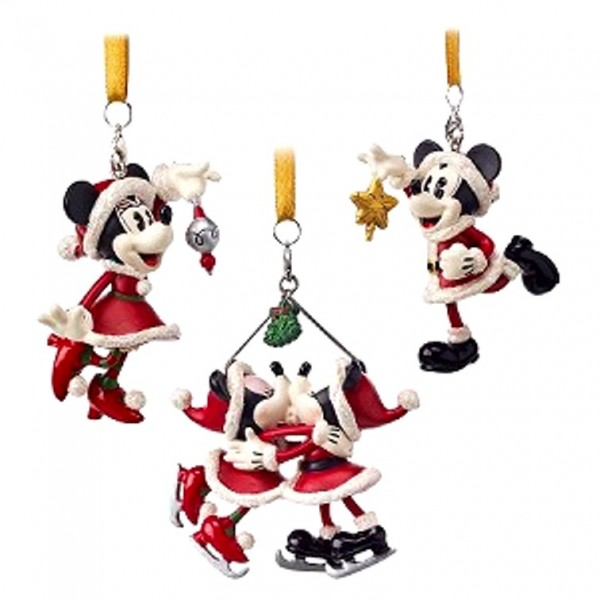 Disney Holiday Ornament Set - Turn of the Century - Mickey and Minnie