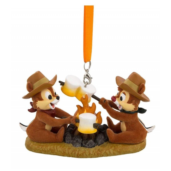 Disney Chip and Dale at Campfire Figurine Ornament Camping