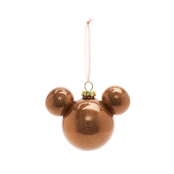 Disneyland Paris Mickey Mouse Rose Gold Bauble