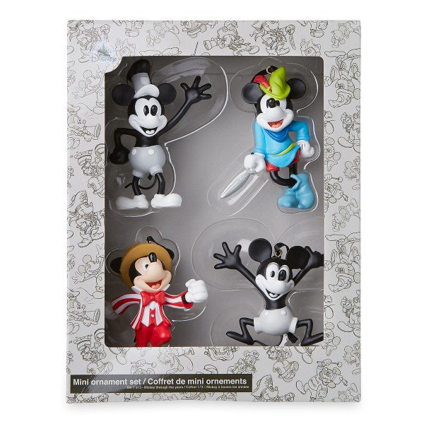 Mickey Mouse Through the Years Mini Ornament Set 1.