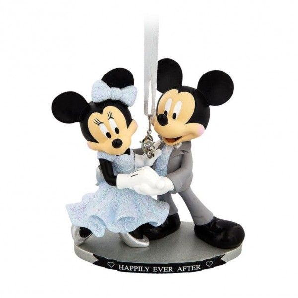 Mickey and Minnie Wedding Happily Ever After Figurine Ornament