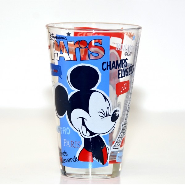 Disneyland Paris Parisian scene Glass