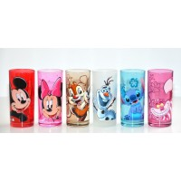 Disney Character Drinking Glass Set of 6,  Disneyland Paris