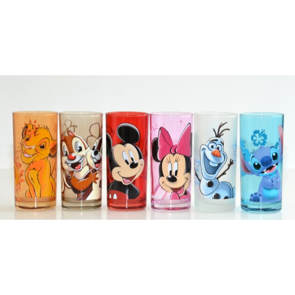 Disney Drinking Glass Character Set