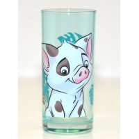 Pua from Moana Character Drinking Glass, Disneyland Paris