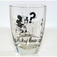 Mickey Mouse Comic Strip BW Small Glass, Disneyland Paris