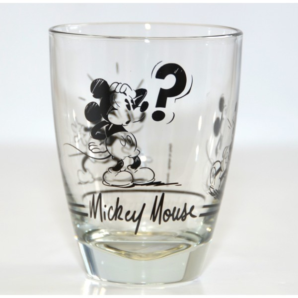 Mickey Mouse Comic Strip BW Small Glass, Disneyland Paris