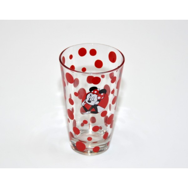 Minnie Mouse polka dots drink glass